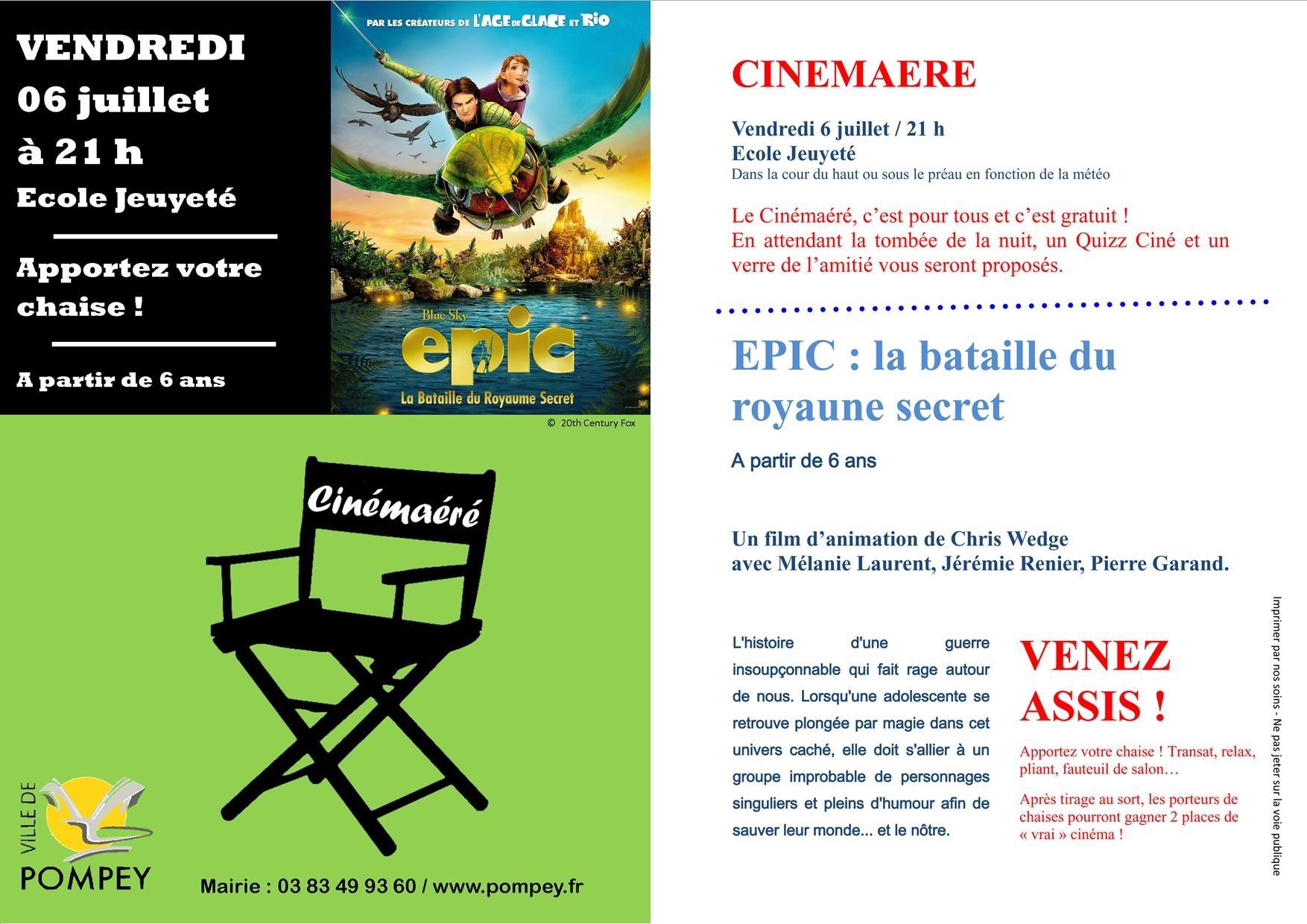 Cinémaéré EPIC 6 juillet