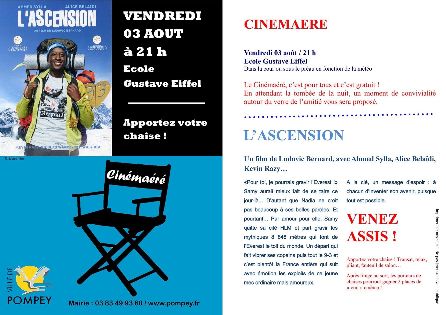 Cinémaéré Ascension 3 août